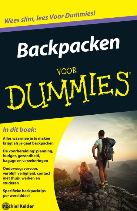Backpacken voor dummies front