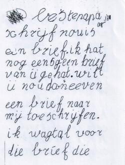 Brief aan papa 1981 pag 1